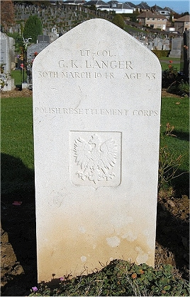 Lt-Col Gwido Langer's grave at Perth, Scotland