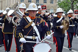 Royal Marines Band Scotland - Armed Forces Day Glasgow 2013