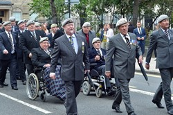 Royal Scots Dragoon Guards Association Veterans - Armed Forces Day Glasgow 2013