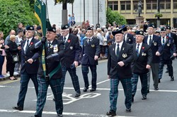 Cameronians (Scottish Rifles) Veterans - Armed Forces Day Glasgow 2013
