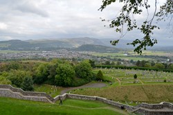 Wallace Monument from Stirling Castle in Scotland