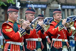 Band of the Royal Regiment of Scotland Trumpets - Edinburgh Armed Forces Day 2014