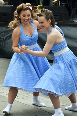 Kennedy Cupcakes dance at the Edinburgh Armed Forces Day 2014