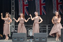 Kennedy Cupcakes On Stage at Edinburgh Armed Forces Day 2014