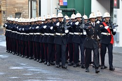 43 Commando Fleet Protection Group - Royal Marines Freedom of Glasgow 2014