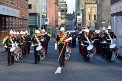 Band Royal Marines Scotland - Freedom Parade Glasgow 2014
