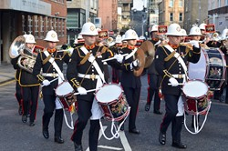 Band Royal Marines - Parade Glasgow 2014