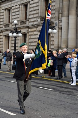 Royal Marine Veteran - Freedom Parade Glasgow 2014