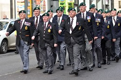 Royal Marine Veterans - Renfield Street Glasgow 2014