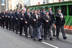 Royal Marine Veterans - Ingram Street Glasgow 2014