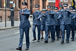 Universities of Glasgow and Strathclyde Air Squadron - Remembrance Sunday Glasgow 2014