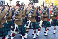52nd Lowland Battalion - Remembrance Sunday Glasgow 2014