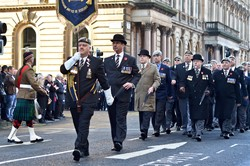 Royal Scots Dragoon Guard Association - Remembrance Sunday Glasgow 2014