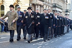 Royal Scots Dragoon Guard Association Veterans - Remembrance Sunday Glasgow 2014