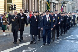 Royal Engineers Association - Remembrance Sunday Glasgow 2014