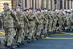 Army Cadet Force - Remembrance Sunday Glasgow 2014