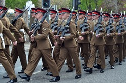 Duke of Lancaster's Regiment Freedom Parade Wood Street Maryport