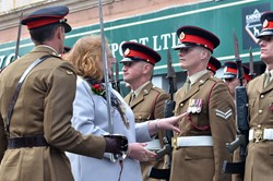 Maryport Mayor Carol Tindall - Duke of Lancaster's Regiment