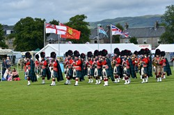 Beating Retreat Band of the Royal Regiment of Scotland - Armed Forces Day 2015 Stirling