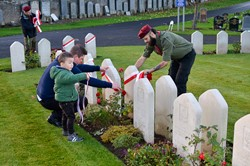 Polish Scouts - Polish War Graves Perth 2015