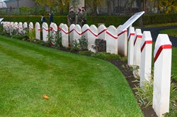 Perth Polish War Graves - Red & White Sashes 2015