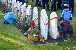 All Saints Day Candles - Polish War Graves Edinburgh 2015