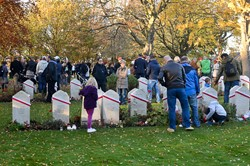 All Saints Day - Polish War Graves Corstorphine Edinburgh 2015