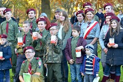 "Polish Scouts 3 RDH ""Nieprzemakalni"" Edinburgh - All Saints Day 2015"