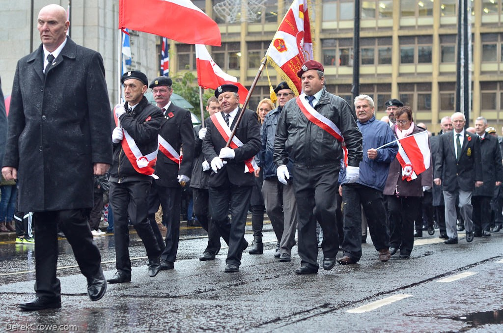 Polish Combatants Memorial Group - Remembrance Sunday Glasgow 2015