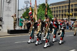 Royal Highland Fusiliers Colour Party Homecoming Parade Glasgow 2016