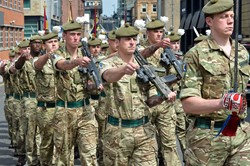 Homecoming Parade Royal Regiment of Scotland (2 Scots) Glasgow 2016