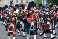 Band Royal Regiment of Scotland and 2 Scots Pipes and Drums Glasgow