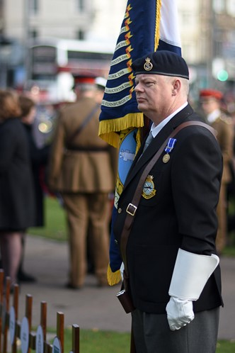 Royal Naval Type 42 Association Standard Bearer - Edinburgh Garden of Remembrance 2016