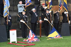 Standard Bearers - Garden of Remembrance Princes Street Gardens Edinburgh 2016