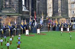 Standard Bearers - Garden of Remembrance Edinburgh 2016