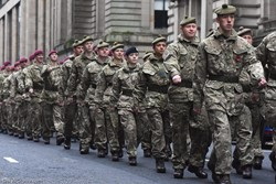 Soldiers - Remembrance Sunday Glasgow 2016