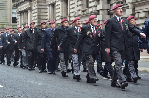 Veterans of the Parachute Regiment - Glasgow Remembrance Sunday 2016