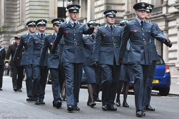 Universities of Glasgow and Strathclyde Air Squadron - Remembrance Sunday Glasgow 2016