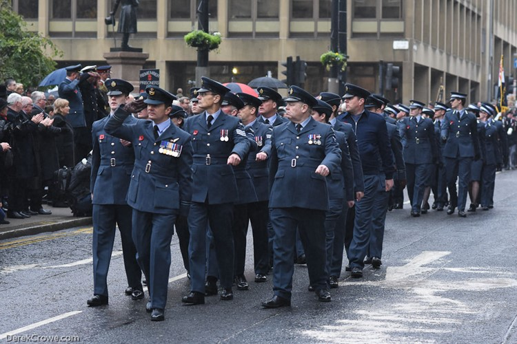Royal Air Force (RAF) - Remembrance Sunday George Square Glasgow 2016