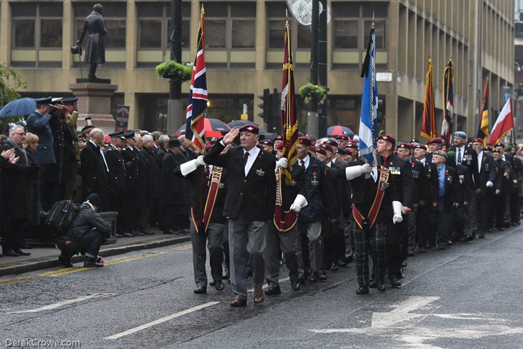 Parachute Regiment Veterans Association - Remembrance Sunday Glasgow 2016