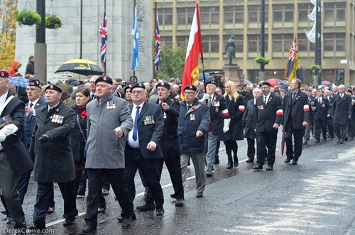 Veterans Cenotaph - Remembrance Sunday Glasgow 2016