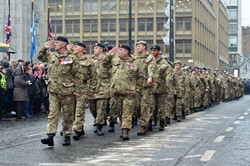 Army Cadets on Parade - Remembrance Sunday Glasgow 2016