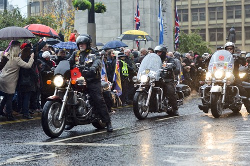 Riders Branch Royal British Legion - Remembrance Sunday Glasgow 2016