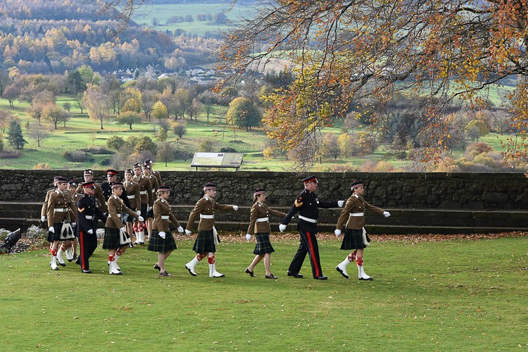 Gunners and Aberdeen University OTC - 21 Gun Salute Stirling Castle 2016