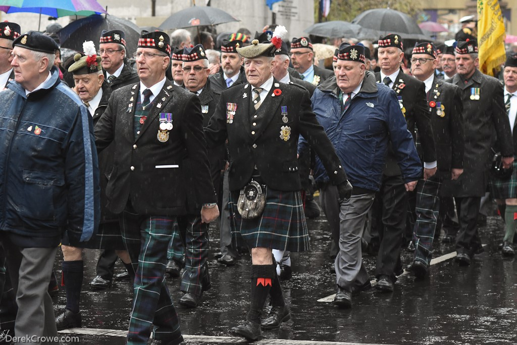 Veterans in George Square - Remembrance Sunday (Armistice Day) Glasgow 2018