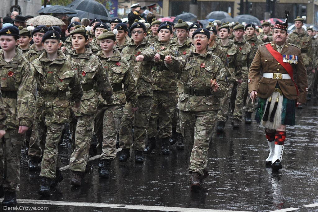Army Cadet Force (ACF) - Remembrance Sunday (Armistice Day) Glasgow 2018