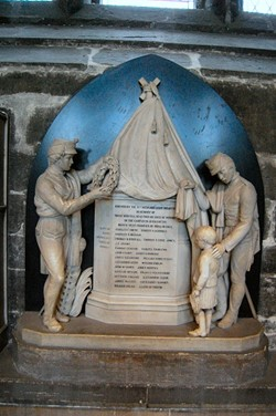 Memorial 71st Highland Light Infantry, Glasgow Cathedral, Scotland