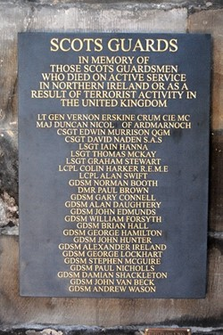 Scots Guard Memorial, Glasgow Cathedral, Scotland