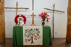 Crosses at the Altar - National Memorial Arboretum, Staffordshire, England