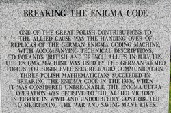 Breaking the Enigma Code - Polish Armed Forces Memorial